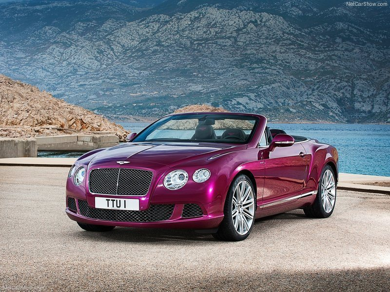 The 2014 Bentley Continental GT Speed Convertible. DAMN!!!