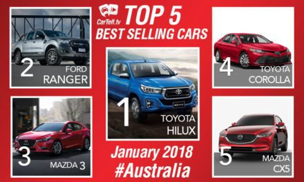 Australia's top 5 best-selling vehicles in January
