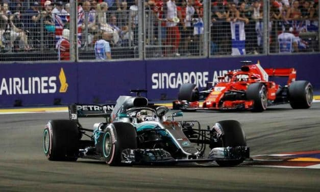 Hamilton hammers home in Singapore