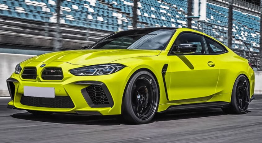 Yellow Green BMW M3 M4 Aftermarket Look by Prior Design